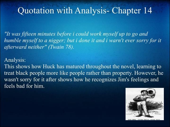 Quotation with Analysis- Chapter 14