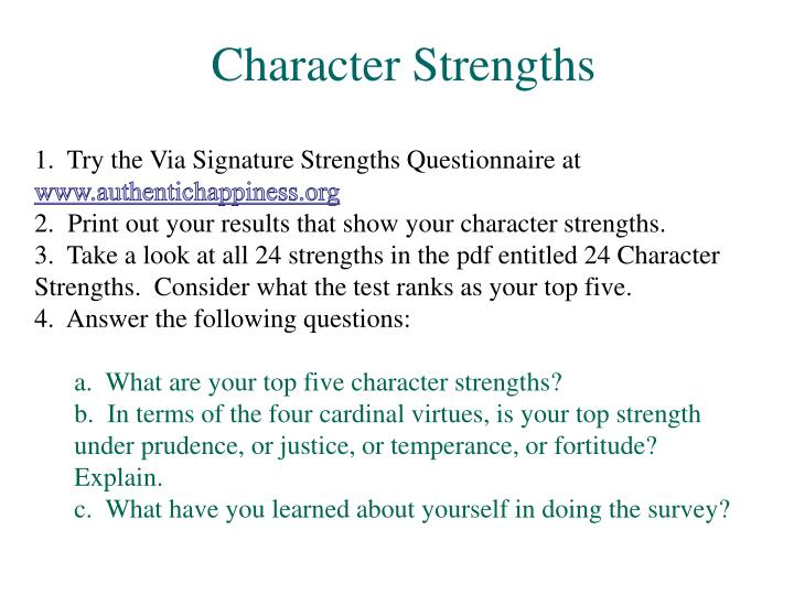 Character Strengths