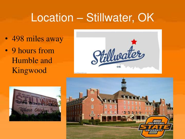 Location – Stillwater, OK