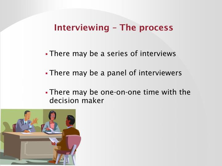 Interviewing – The process
