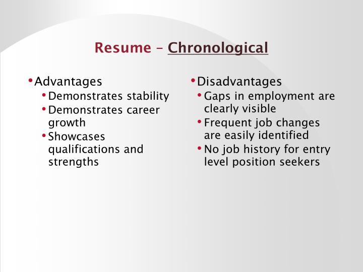 Resume –