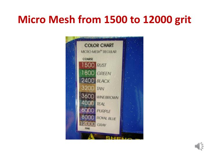 Micro Mesh from 1500 to 12000 grit