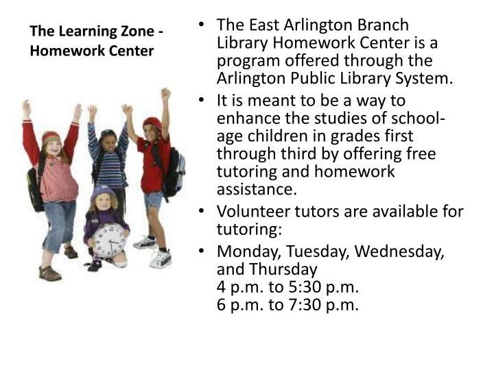 The Learning Zone - Homework Center