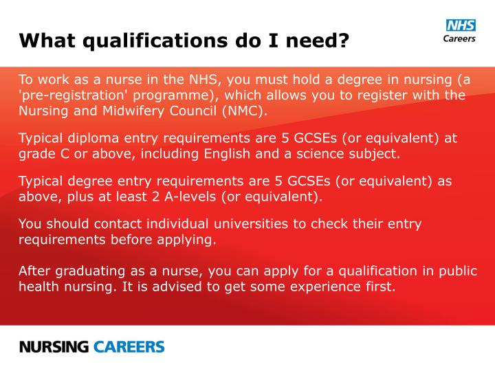 What qualifications do I need?