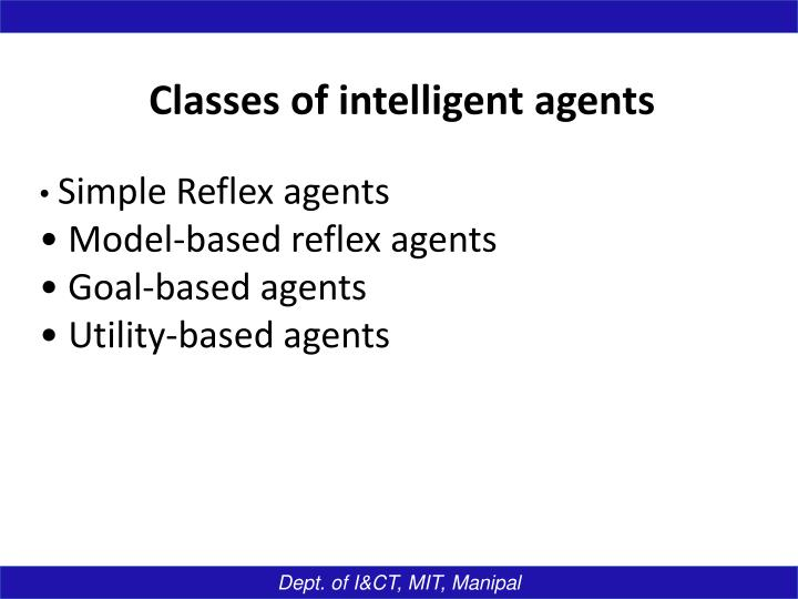 Classes of intelligent agents