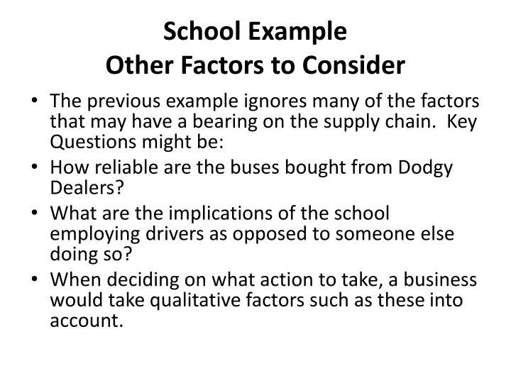 School Example