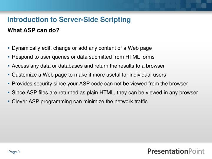 Introduction to Server-Side Scripting