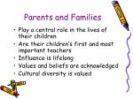 parents and families