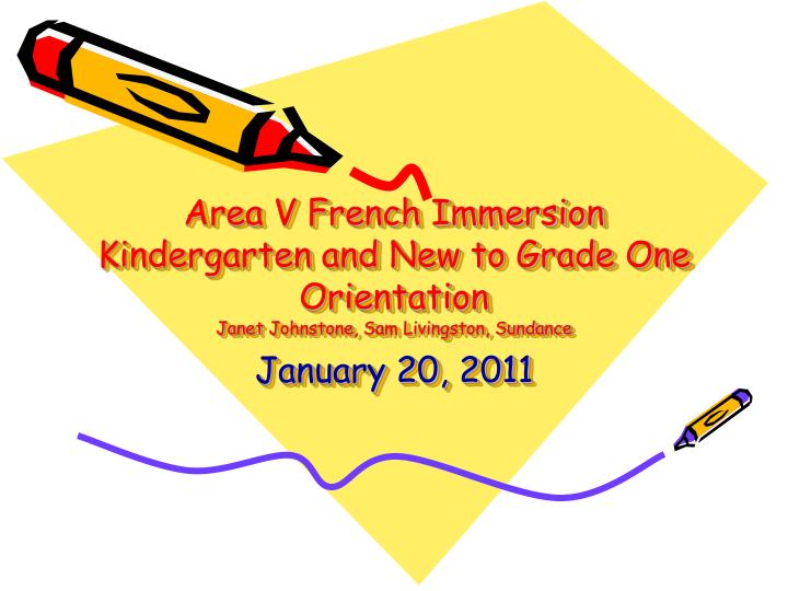 Area V French Immersion