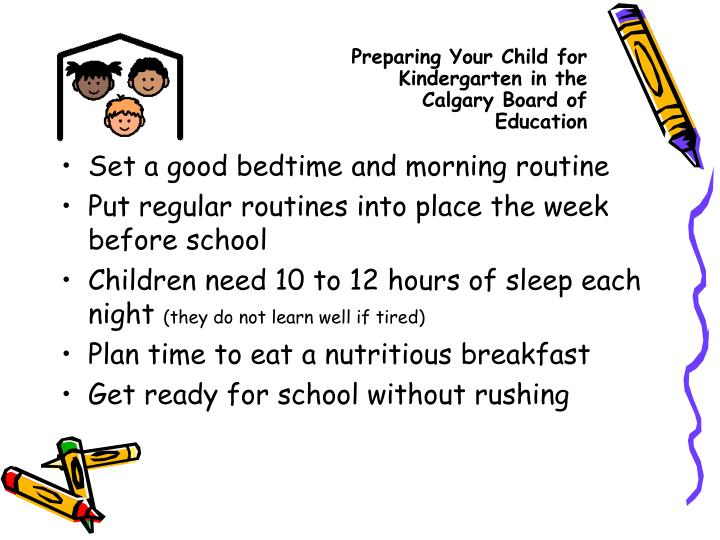 Preparing Your Child for Kindergarten in the Calgary Board of Education