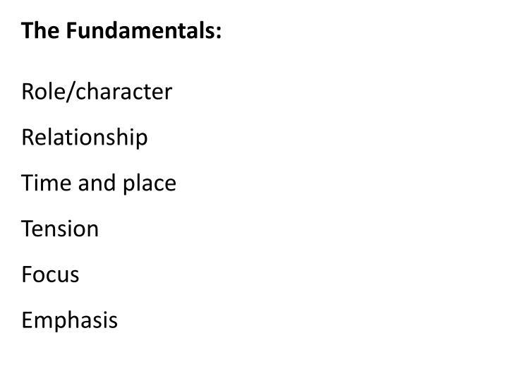 The Fundamentals:
