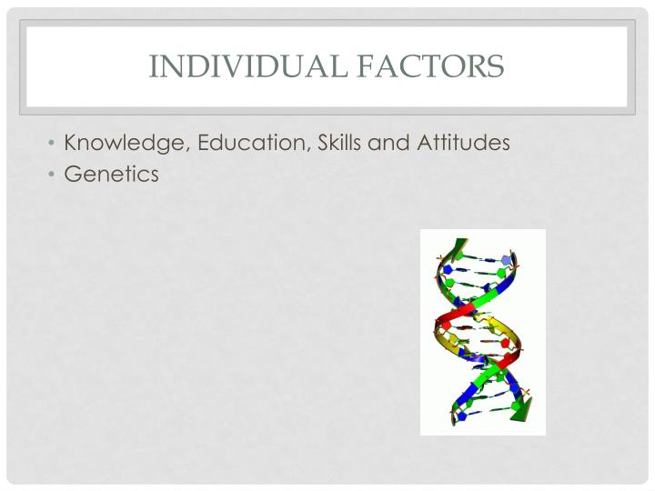 Individual Factors