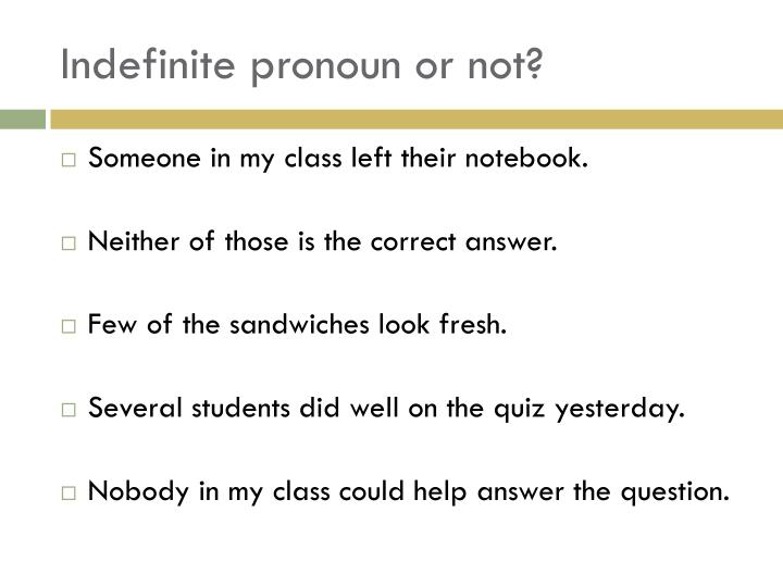 Indefinite pronoun or not?