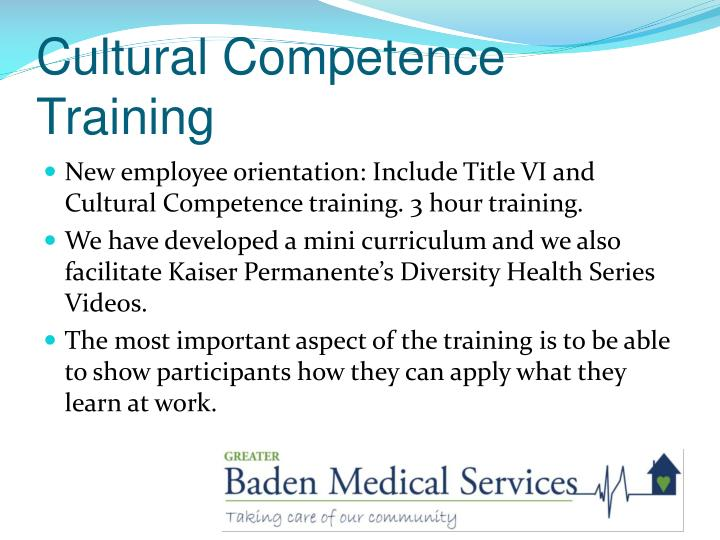 Cultural Competence Training