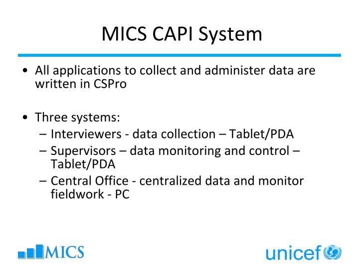 MICS CAPI System