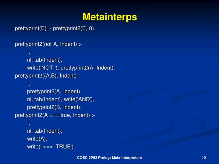 Metainterps