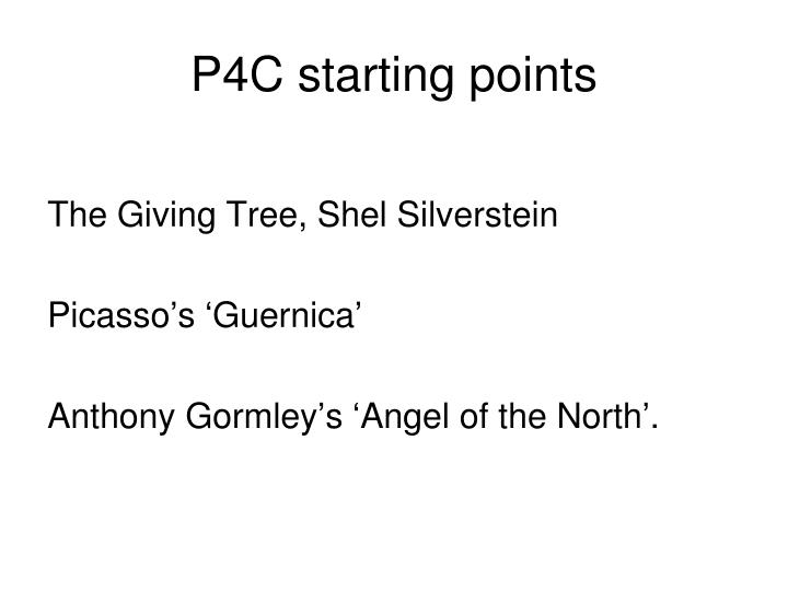 P4C starting points