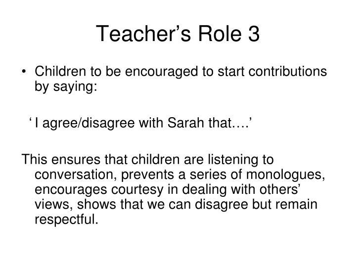 Teacher's Role 3