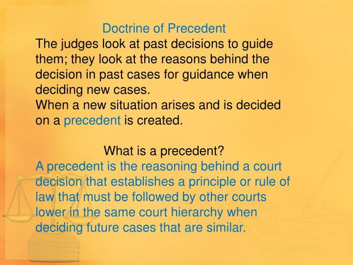 Doctrine of Precedent