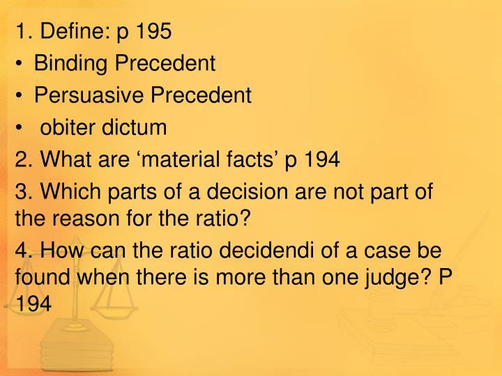 1. Define: p 195