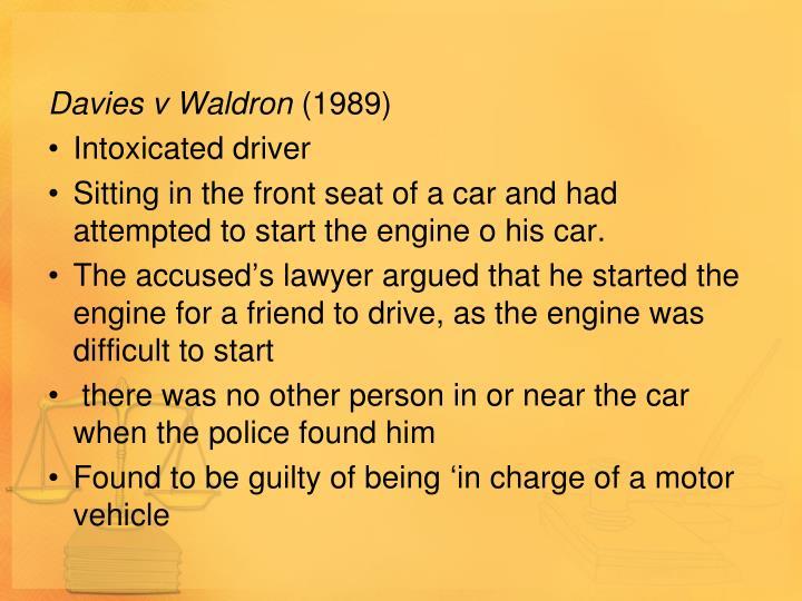 Davies v Waldron