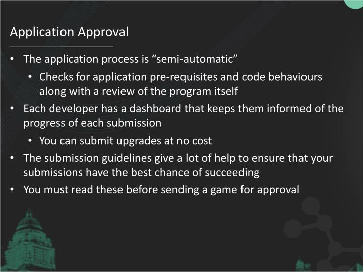 Application Approval