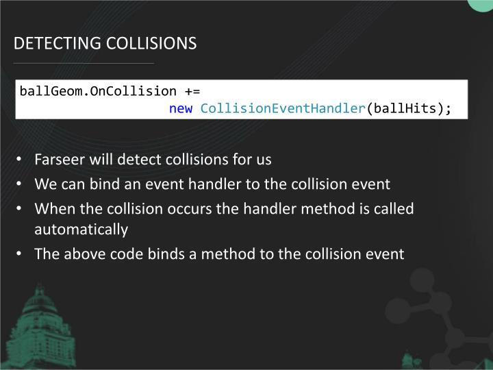 Detecting Collisions