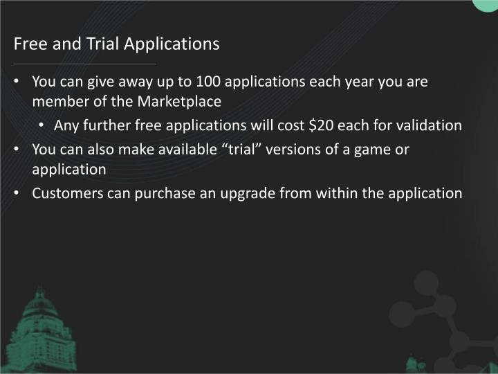 Free and Trial Applications