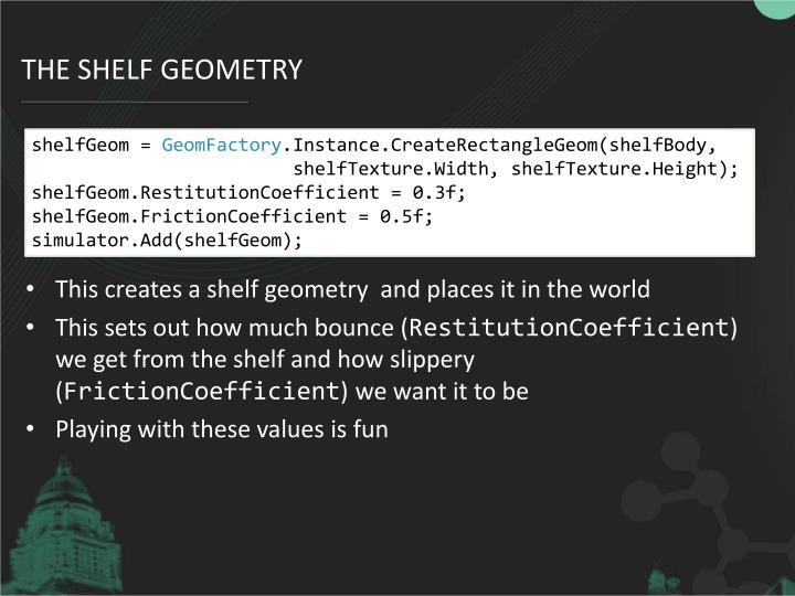 The shelf geometry