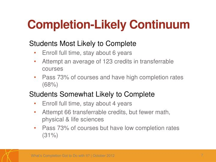 Completion-Likely Continuum