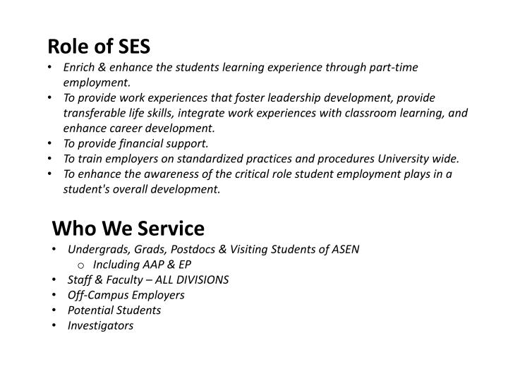 Role of SES