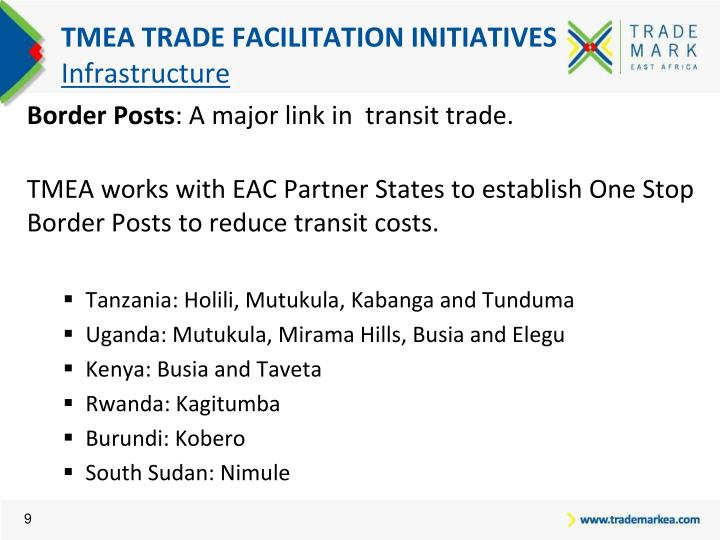 TMEA TRADE FACILITATION INITIATIVES