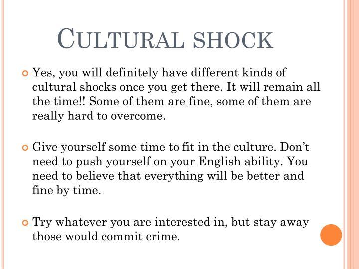 Cultural shock