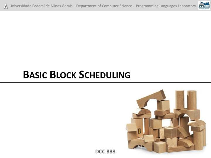 Basic Block Scheduling