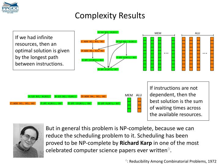 Complexity Results