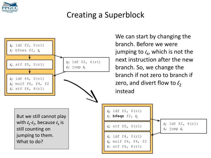 Creating a Superblock