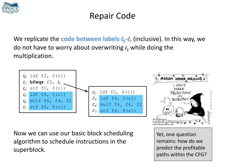 Repair Code