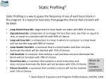 static profiling