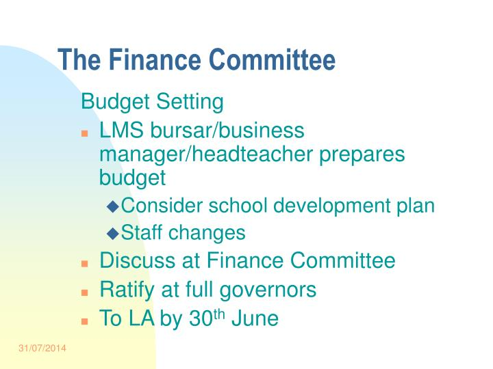 The Finance Committee