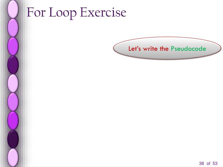 For Loop Exercise