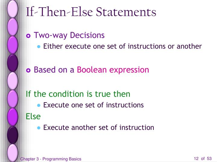 If-Then-Else Statements