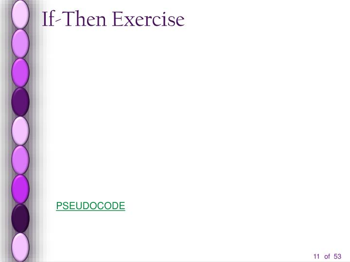If-Then Exercise