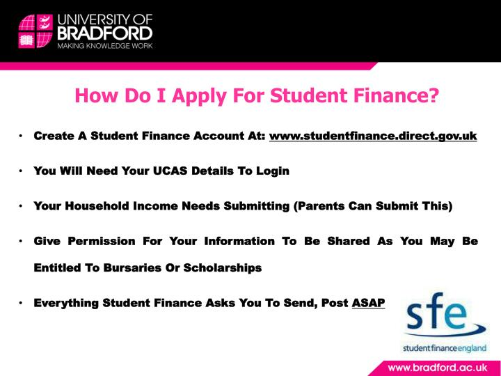 How Do I Apply For Student Finance?