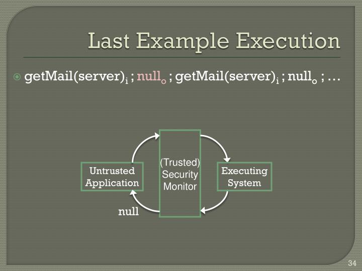 Last Example Execution