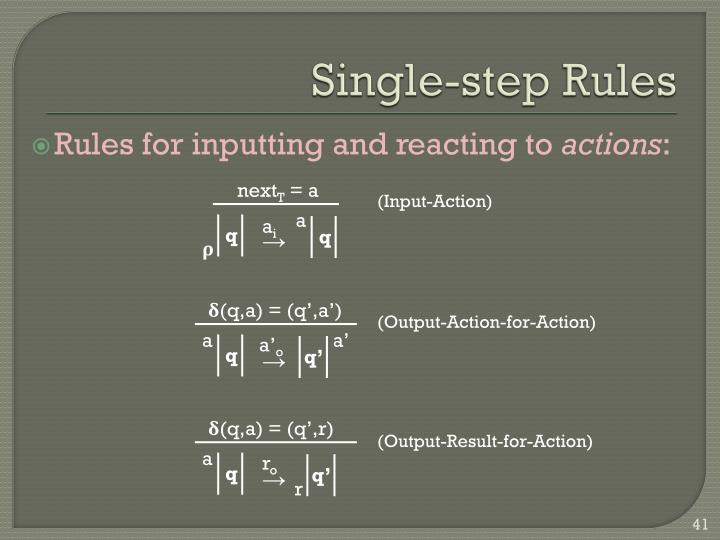 Single-step Rules