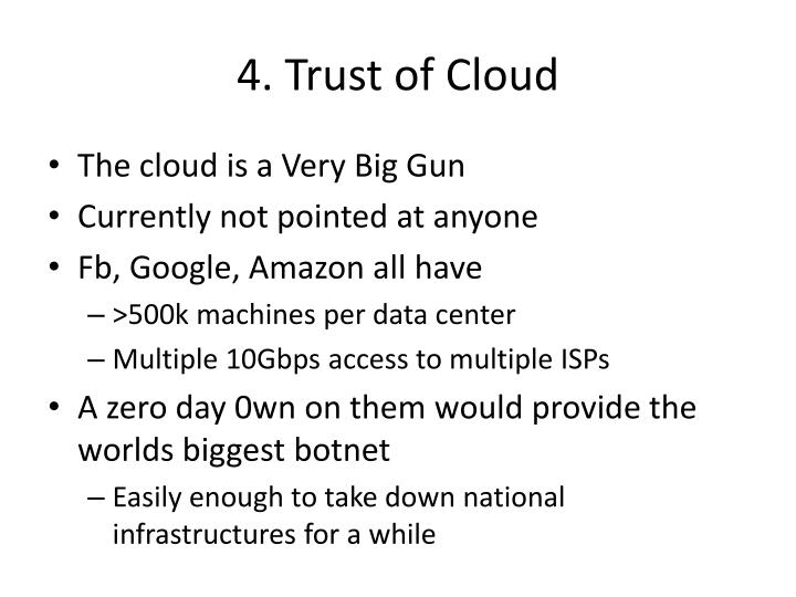 4. Trust of Cloud