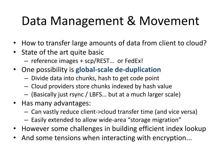 Data Management & Movement