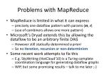 problems with mapreduce