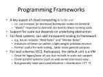 programming frameworks