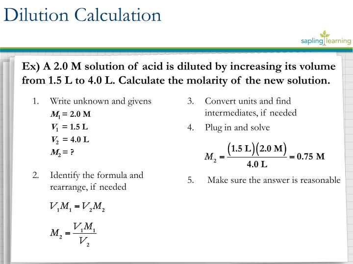 Dilution Calculation